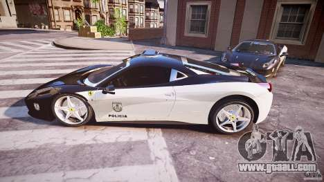 Ferrari 458 Italia - Brazilian Police [ELS] for GTA 4 left view