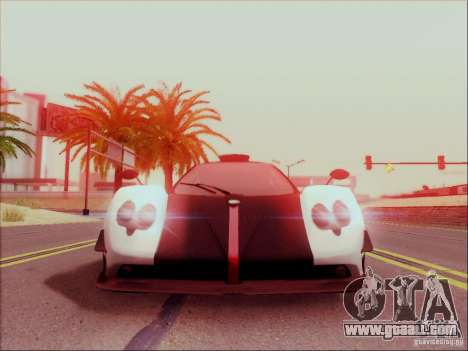 Pagani Zonda Cinque for GTA San Andreas left view