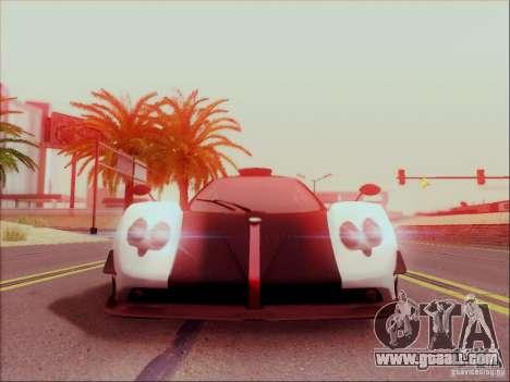 Pagani Zonda Cinque for GTA San Andreas left view