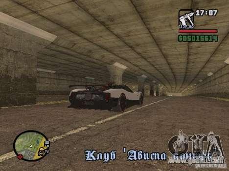 Pagani Zonda Cinque Roadster V2 for GTA San Andreas back left view