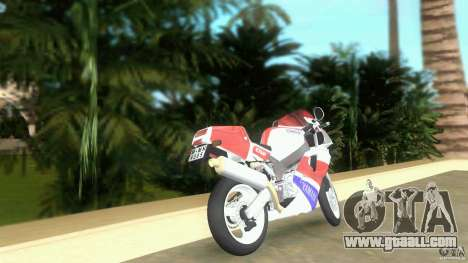 Yamaha FZR 750 original plain for GTA Vice City back left view