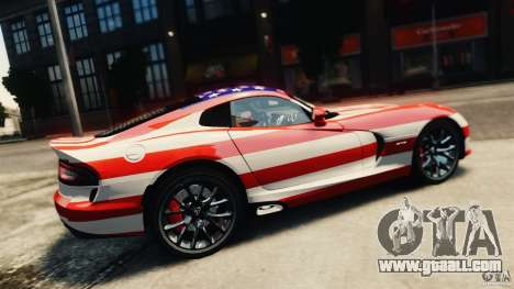 Dodge Viper GTS 2013 for GTA 4 back view