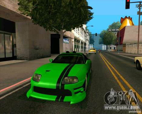 Toyota Supra NFS Most Wanted for GTA San Andreas