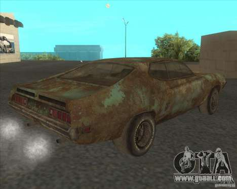 Ford Torino extreme rust 1970 for GTA San Andreas left view