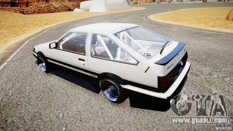 Toyota Corolla Levin AE86 v.1.0 for GTA 4 right view