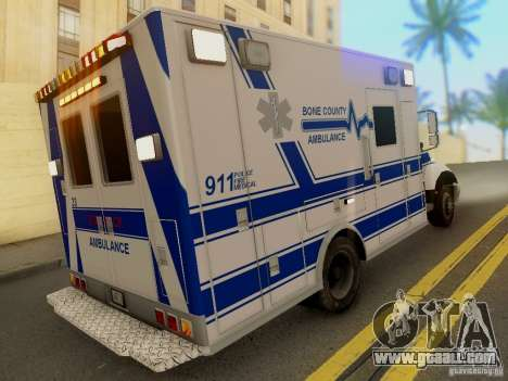 Freightliner Bone County Police Fire Medical for GTA San Andreas left view