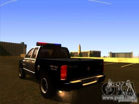 Dodge Ram 1500 Police for GTA San Andreas left view