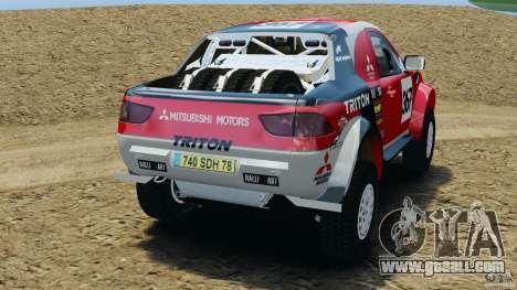 Mitsubishi L200 Triton for GTA 4 back left view