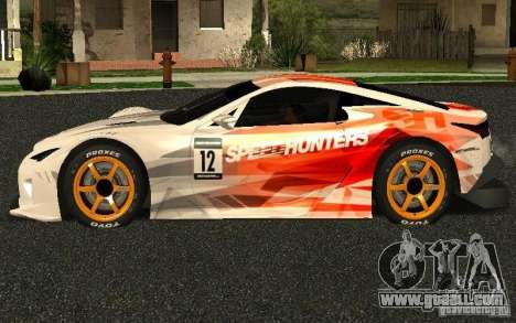 Lexus LFA Speedhunters Edition for GTA San Andreas left view
