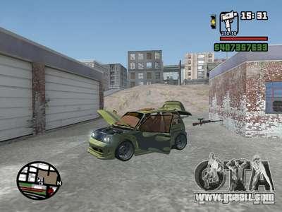 1111 OKA (tuning) for GTA San Andreas bottom view