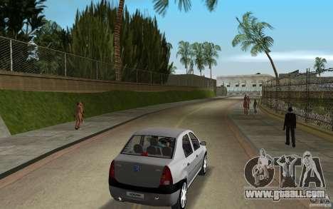Dacia Logan 1.6 MPI for GTA Vice City right view