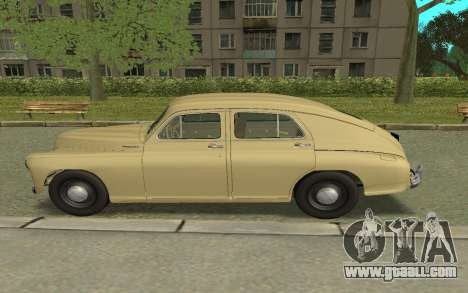 GAZ M20 Pobeda 1949 for GTA San Andreas left view