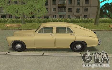 GAZ M20 Pobeda 1949 for GTA San Andreas