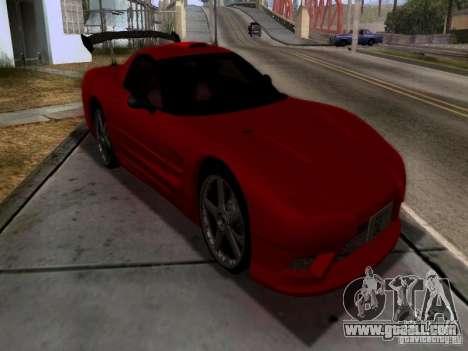 Chevrolet Corvette C5 for GTA San Andreas inner view