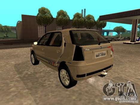 Fiat Palio 1.8R for GTA San Andreas upper view