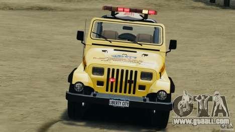 Jeep Wrangler 1988 Beach Patrol v1.1 [ELS] for GTA 4 inner view