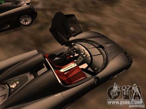 Koenigsegg CCXR Edition for GTA San Andreas upper view