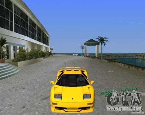 Lamborghini Diablo SV for GTA Vice City back left view