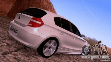 BMW 120i 2009 for GTA San Andreas back view