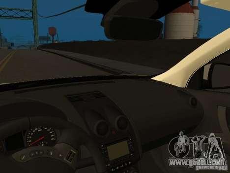 Nissan Qashqai Espaqna Police for GTA San Andreas inner view