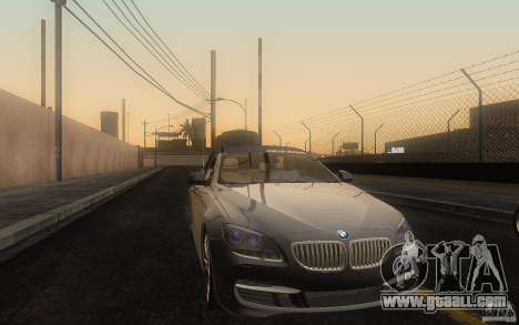 BMW 6 Series Gran Coupe 2013 for GTA San Andreas inner view