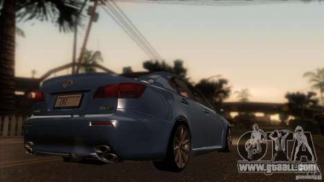 Lexus IS-F for GTA San Andreas right view