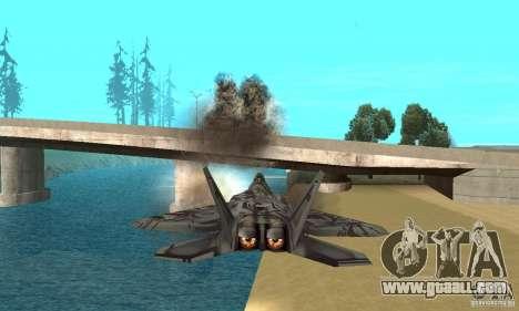 F-22 Starscream for GTA San Andreas interior