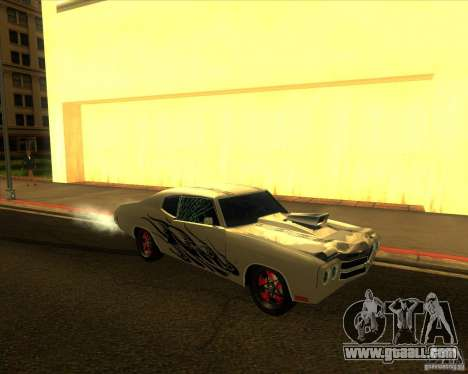 Chevy Chevelle SS Hell 1970 for GTA San Andreas back view