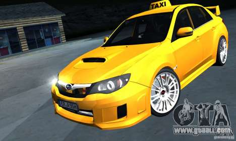 Subaru Impreza WRX STi 2011 TAXI for GTA San Andreas back left view