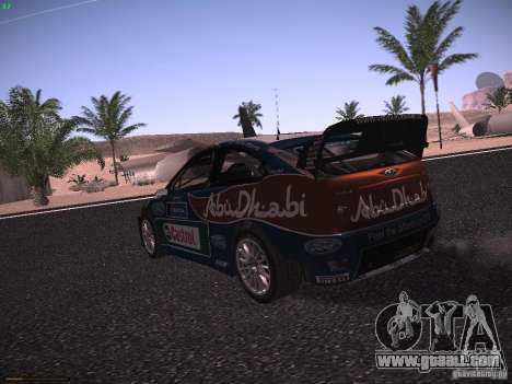 Ford Focus RS WRC 2010 for GTA San Andreas right view