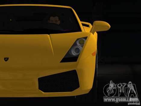 Lamborghini Gallardo for GTA Vice City right view