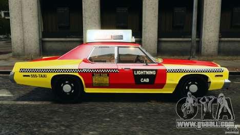 Dodge Monaco 1974 Taxi v1.0 for GTA 4 left view