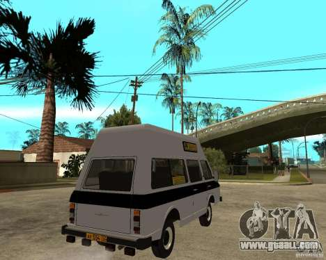 RAPH 22038 taxi for GTA San Andreas back left view