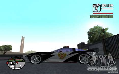 Cross Corvette C6R English for GTA San Andreas left view