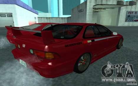 Honda Integra Type R for GTA San Andreas back left view