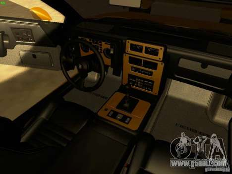 Pontiac Fiero V8 for GTA San Andreas inner view