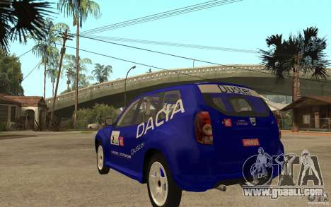 Dacia Duster Rally for GTA San Andreas back left view