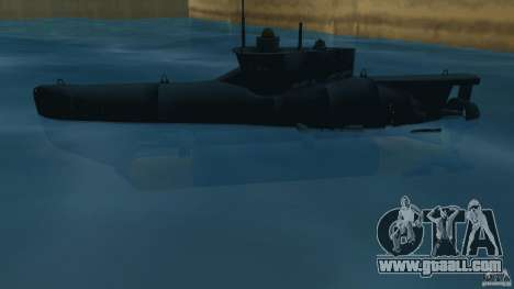 Seehund Midget Submarine skin 2 for GTA Vice City left view