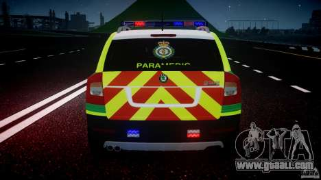 Skoda Octavia Scout Paramedic [ELS] for GTA 4 engine
