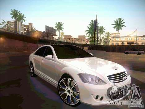 Mercedes-Benz S 500 Brabus Tuning for GTA San Andreas upper view