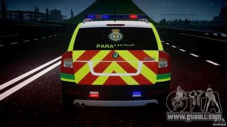 Skoda Octavia Scout Paramedic [ELS] for GTA 4 wheels