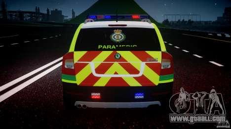 Skoda Octavia Scout Paramedic [ELS] for GTA 4 wheels