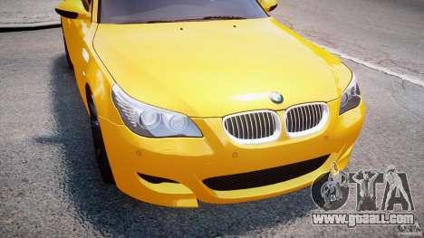 BMW M5 E60 2009 for GTA 4 engine