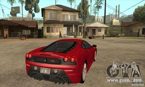 Ferrari F430 Scuderia 2007 for GTA San Andreas back view
