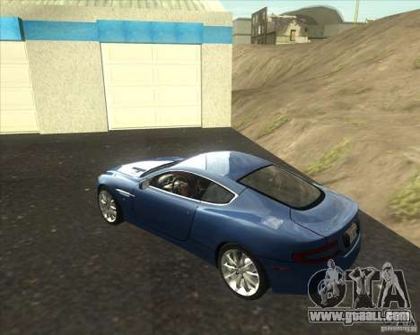 Aston Martin DB9 tunable for GTA San Andreas left view