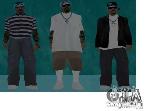 Skins bands HQ for GTA San Andreas forth screenshot