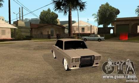 Lada VAZ 2107 LT for GTA San Andreas back view