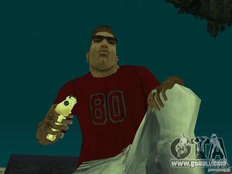 Desert Eagle 357. GOLD for GTA San Andreas second screenshot