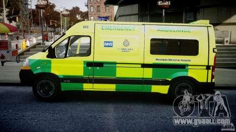 Renault Master 2007 Ambulance Scottish for GTA 4 left view