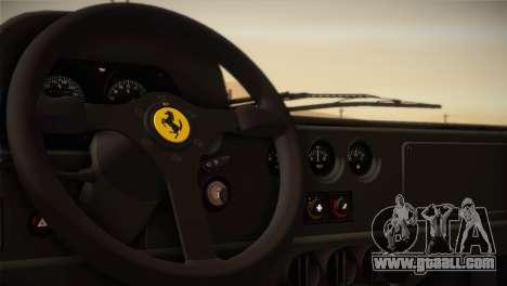 Ferrari F40 1987 for GTA San Andreas bottom view
